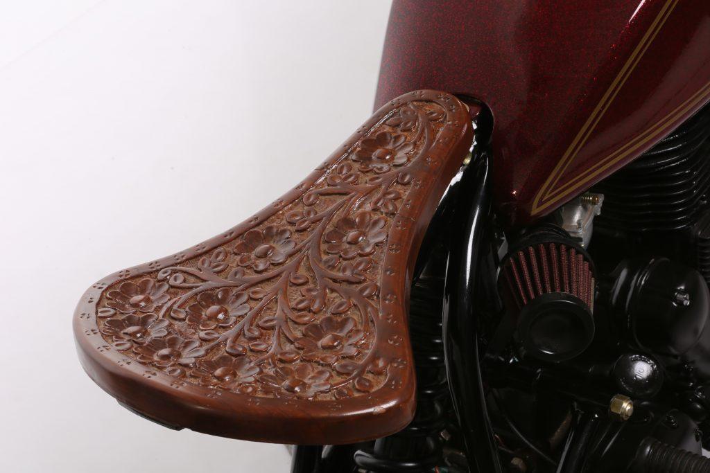 Barood - 2015 Royal Enfield Rider Mania Winner - wooden seat